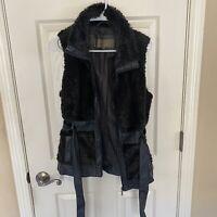 Fashion Nova, Ci Sono Faux Fur Black Vest - Size Medium, Worn Once