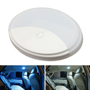White/Ice Blue Portable USB Rechargeable Magnetic Mount LED Dome Ceiling Lamp