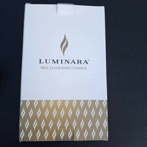 Luminara Real Flame Effect Candle Glass Berry Ornament Stunning