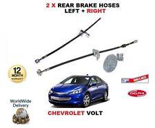 für CHEVROLET VOLT 1.4 Hybrid 2012> NEU 2x HINTERE Brems- Flex GUMMISCHLAUCH