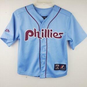 Youth Philadelphia Phillies Majestic Utley #26 Baseball Jersey Kids Size Medium
