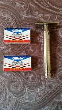 WET CLASSIC SAFETY RAZOR & 20 WILKINSON SWORD DOUBLE EDGE RAZOR BLADES VINTAGE
