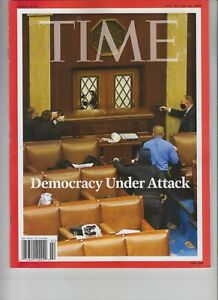 DEMOCRACY UNDER ATTACK TIME MAGAZINE JAN 18 2021 NO LABEL CAPITOL INSURRECTION