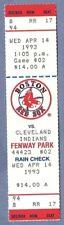 Albert Belle HR 74 full ticket April 14 1993 Indians Orioles Mo Vaughn 4 hits