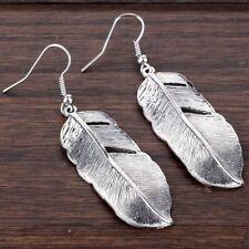 925 Silver Feather Pendant Hook Earrings Party Earrings for Women Girls