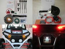 Street Legal TS LED Turn Signal Kit + Horn + Plate Polaris General or RZR models