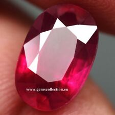 AAA RUBINO NATURALE - NATURAL RUBY CT 6.05 SI PINKISH RED OVAL CUT MONZAMBIQUE