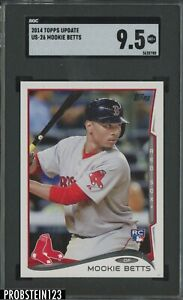 2014 Topps Update #US26 Mookie Betts RC Rookie Red Sox SGC 9.5 MINT+