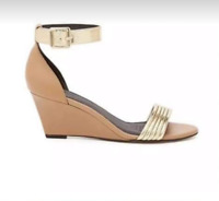 NEW 36 or 5/5.5 Witchery wedge heels medium height. New, tan and gold.