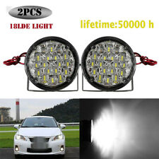 2Pcs 18w 6500K Car Daytime Running Light Fog Lights DRL LED Waterproof