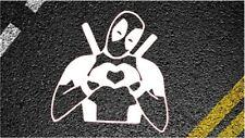Deadpool Corazón Pegatina de Coche Ventana Gracioso Laptop calcomanías Autoadhesivos Marvel