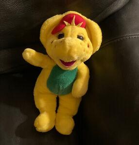 "Barney Plush Yellow B J  Friend Dinosaur Stuffed Animal 13"" Vintage Toy T8"