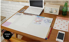 "10day Fast Shipping, Basic Ivory Desk Pad 22x13"" Desk Mat Nonslip Office desk"