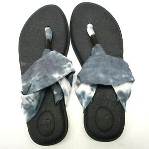 Neu Sanuk Damen Batik YOGA SLING 2 GRATEFUL DEAD Tanga Sandalen Schuhe US 10 Eu