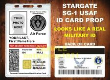 STARGATE SG-1 ID Badge Card Prop - CUSTOM W/ Your PHOTO / INFO - USAF MILITARY