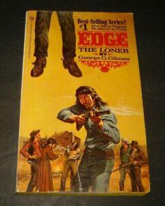 LONER (EDGE NO. 1) By George G. Gilman 1981 western pb