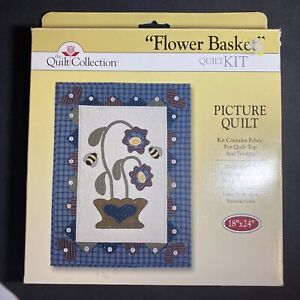 """The Quilt Collection """"Flower Basket"""" Quilt Kit 18"""" x 24"""""""