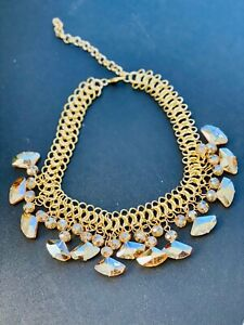 Fashion Necklace, double chain and shinning stones