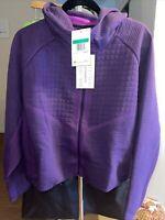 Nike Sportswear Tech Pack XL Fleece Full Zip Hood Crop Jacket Purple CI9432-525