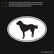 Anatolian Shepherd Euro Oval Sticker Die Cut Decal Adhesive Vinyl dog canine pet