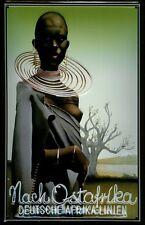 Después de África Oriental Alemana de África líneas chapa escudo marcado por 3d Tin sign 20 x 30 cm