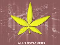 Pegatina Marihuana 3D Relieve - Color Amarillo