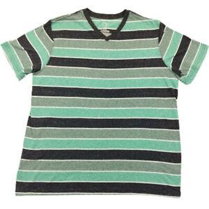 OP Ocean Pacific Striped Soft Performance V-Neck Surfing Beach T-Shirt Mens XL
