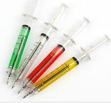 1X Syringe-shaped Ballpoint Pens Funny Cute Creative Ball Point Pen Random Newly