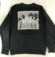 Mens Medium Young & Reckless Sweatshirt Gray