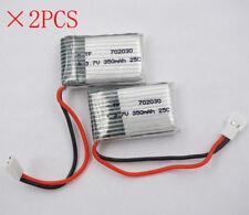 2pcs 3.7V 350mAh 25C LiPO Battery 702030 JST plug for UFO JJRC H11C RC FPV Drone