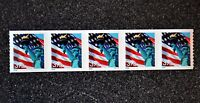2006USA #3982 39c Liberty & Flag  - Plate Number Coil Strip of 5 - Mint PNC