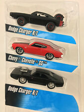 "2015 Fast & Furious 1:55 DOM""S RIDES Chargers & Chevy 3-Pack Jada New Loose"