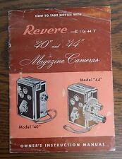 1955 Revere Eight 40 & 44 Magazine Camera Owners Manual FREE SHIPPING