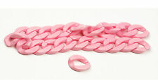 """24 pcs (12"""") Hot Pink Plastic Chain Link for Necklace crafts"""