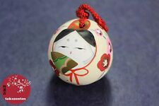 SUZU GEISHA JAPANESE DARUMA MAIKO BELL CLOCHE PORTE-BONHEUR MADE IN JAPAN