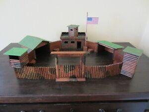 ELASTOLIN FORT GIBSON (groß+bunt)Western Fort Cowboy Haus Indianer Holz