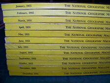 National Geographic Magazines  Full Year 1955  12 issues