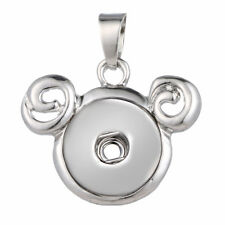 Chain Fit 18mm-20mm Ginger Snaps Button Fashion Silver Snaps Pendant With 50Cm
