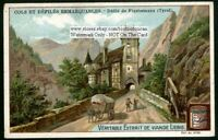 Finstermunz Pass Tyrole Italy c1900 Trade Ad Card