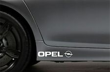 2x Skirt Side Stickers fits Opel Logo Sticker Bodywork Car Decal VK69