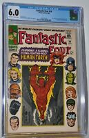 Marvel Comics Fantastic Four #54 Sept.1966 CGC 6.0 Black Panther & The Inhumans