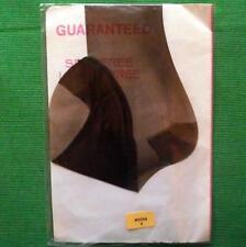 Pin Up Girl Sheer Reinforced Heel Toe Rht Vintage Stockings Medium Size 9 Mocha