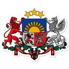 "LATVIA Latvian Coat of Arms bumper sticker 5"" x 4"""