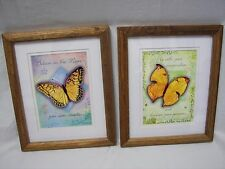 Butterfly Framed Prints by Gail Marie Pair Matted Uplifting Quotes
