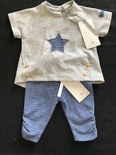 Bellybutton (Germany) NWT Organic Cotton Blue/White Stripe Top & Pants - Newborn