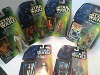Lot of 6 Star Wars POTF Princess Leia , Han Solo, Kenobl, Ev-9D9 Dark lighter