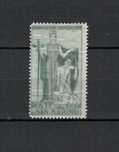 s22990) SAN MARINO 1924 MLH* Garibaldi L.2 1v  Sassone 102 guarantee postmark