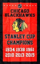 New listing Chicago Blackhawks Nhl Stanley Cup Championship Hockey Flag 3x5 ft Red Banner