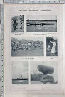 1914 TIMES OF INDIA PRINT 12 FEET LONG GUN SHOOTING BEAR & MASTER DAMAGE GUN