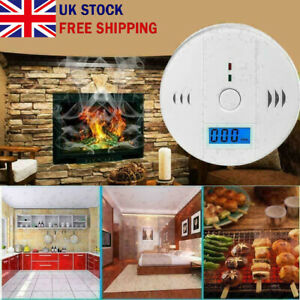Carbon Monoxide (CO) Detector Alarm Alert Battery Operated Carbon Combination